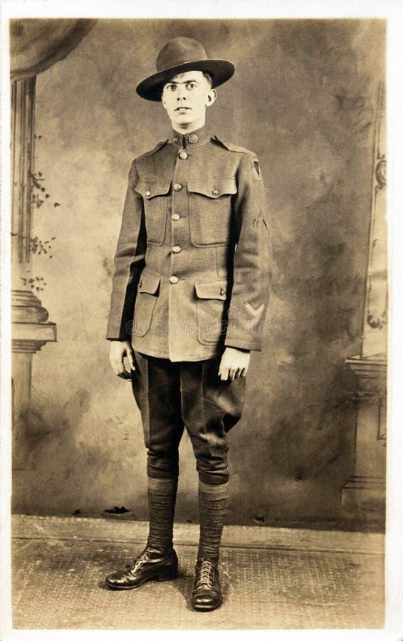 amerikansk soldatwwi royaltyfri bild