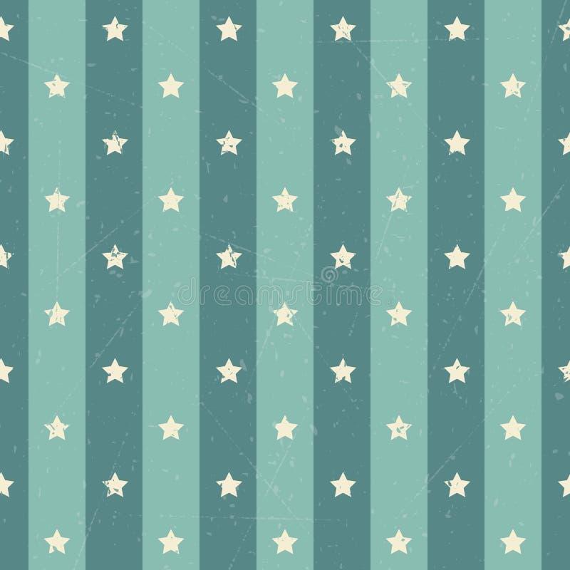 Amerikansk stjärnabakgrund för Retro polka vektor illustrationer