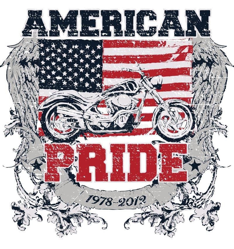 Amerikansk stolthet royaltyfri illustrationer