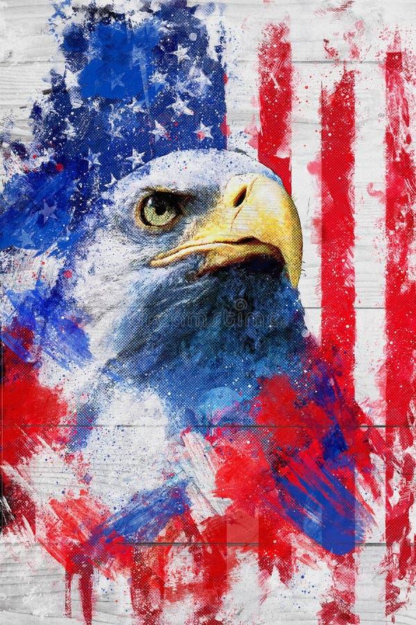 amerikansk stolthet stock illustrationer