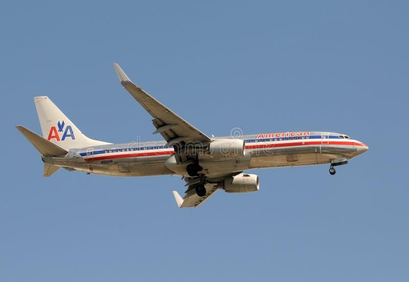 amerikansk strålpassagerare för flygbolag royaltyfria bilder