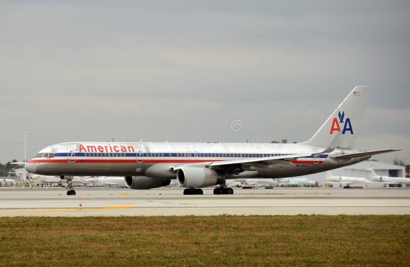 amerikansk strålpassagerare för flygbolag royaltyfri foto