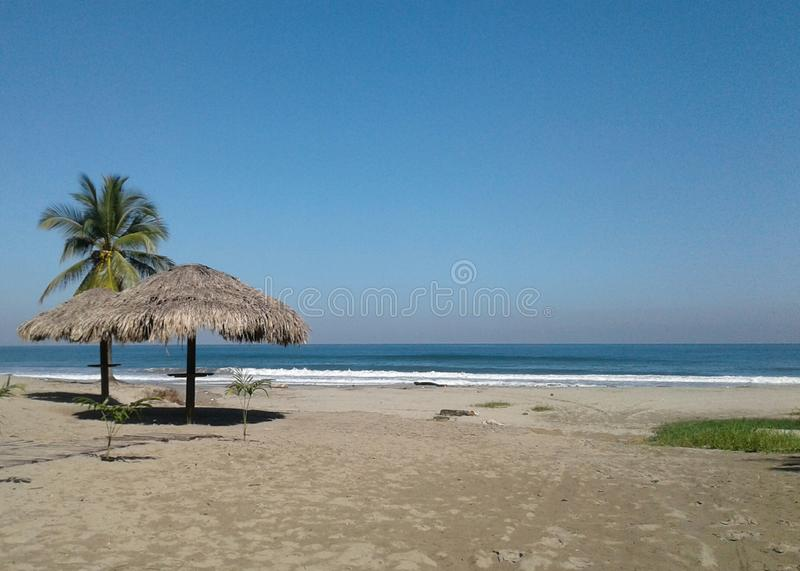 Amerikansk strand i sommartid royaltyfria bilder
