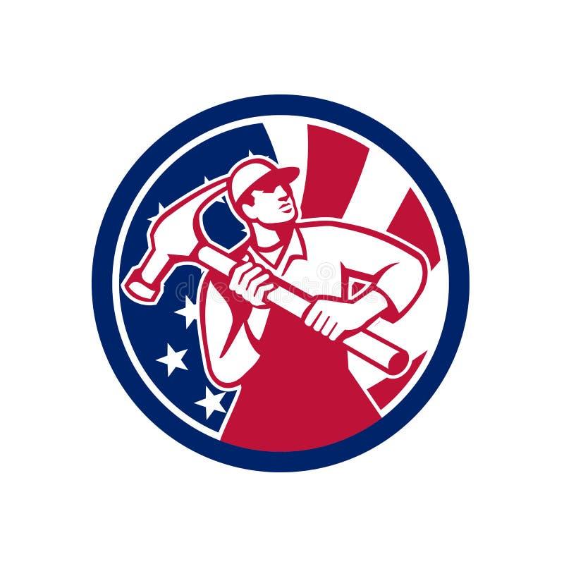 Amerikansk symbol för faktotumUSA flagga stock illustrationer