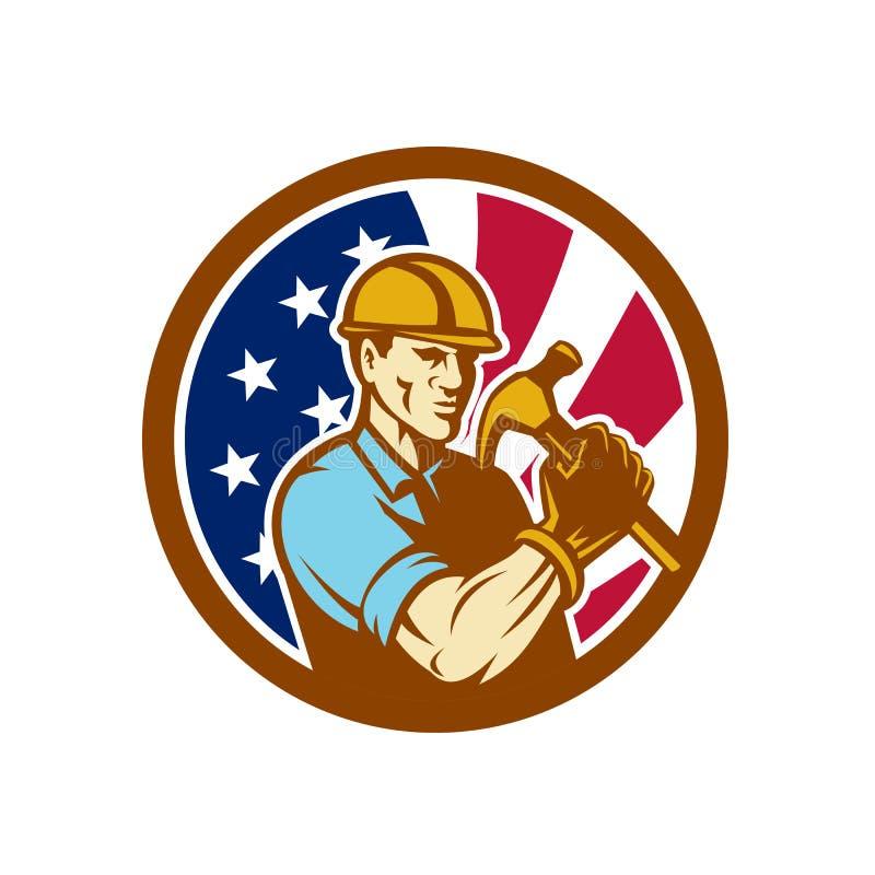 Amerikansk symbol för faktotumUSA flagga vektor illustrationer