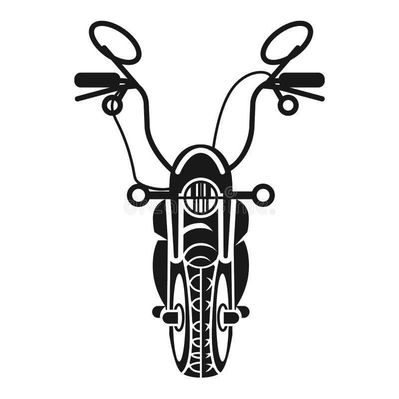 Amerikansk symbol för främre sikt för avbrytare, enkel stil royaltyfri illustrationer
