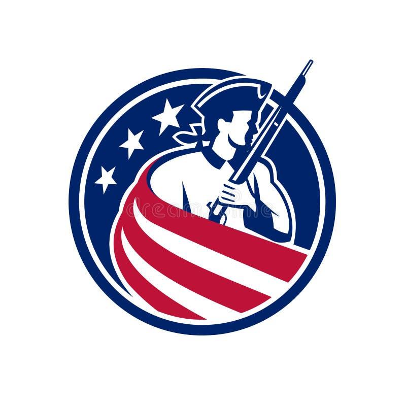 Amerikansk symbol för patriotUSA flagga stock illustrationer