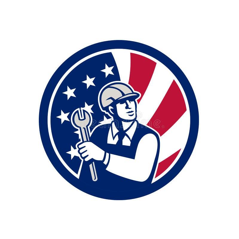Amerikansk symbol för teknikerUSA flagga vektor illustrationer