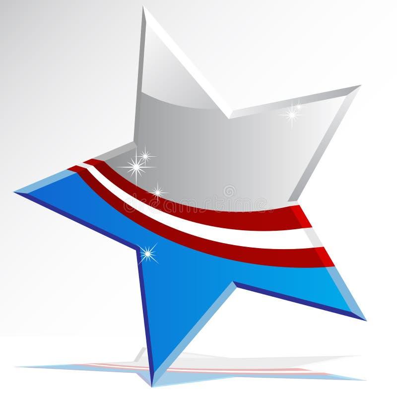 amerikansk symbolsstjärna stock illustrationer