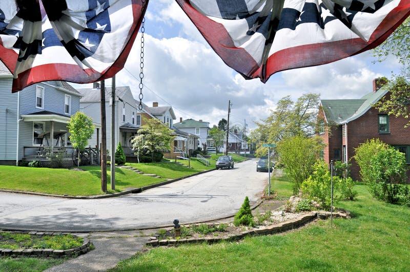amerikansk town royaltyfri foto