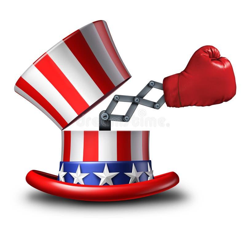 Amerikansk valstrategi stock illustrationer