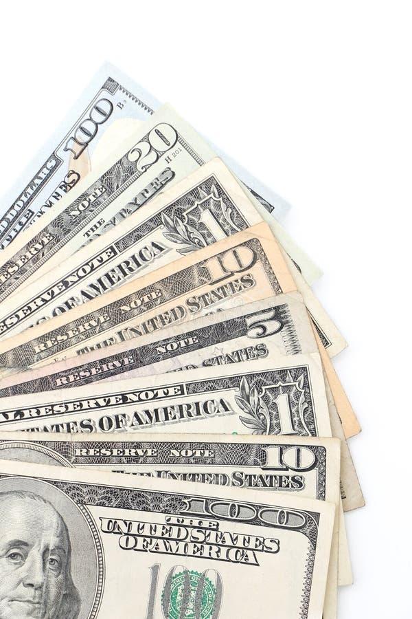 amerikansk valuta isolerad fjärdedelwhite arkivbilder
