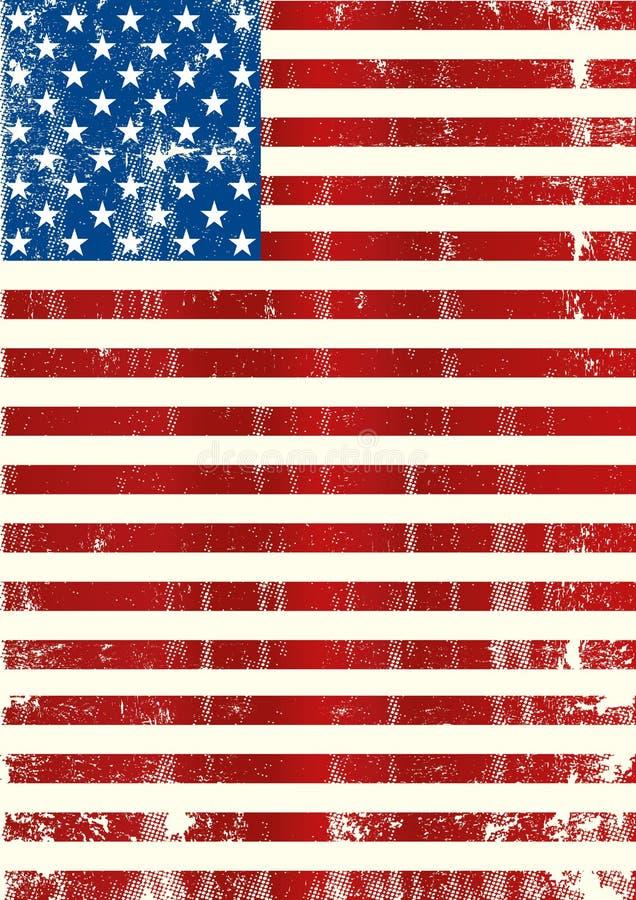 Amerikansk vertikal flagga royaltyfri illustrationer