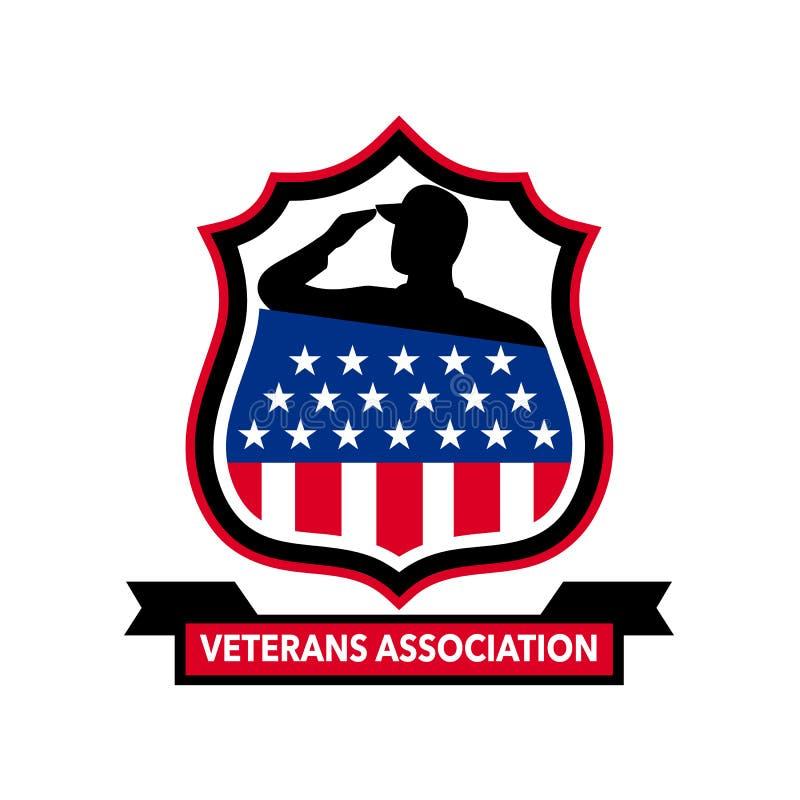Amerikansk veteransköldsymbol stock illustrationer