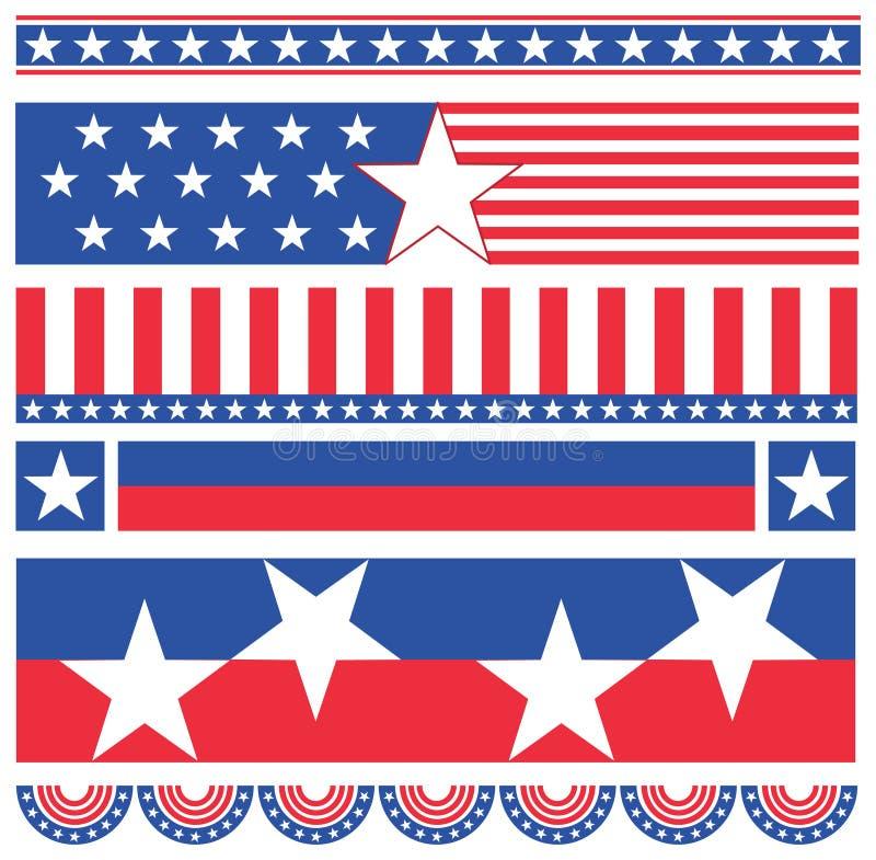 amerikanska baner vektor illustrationer