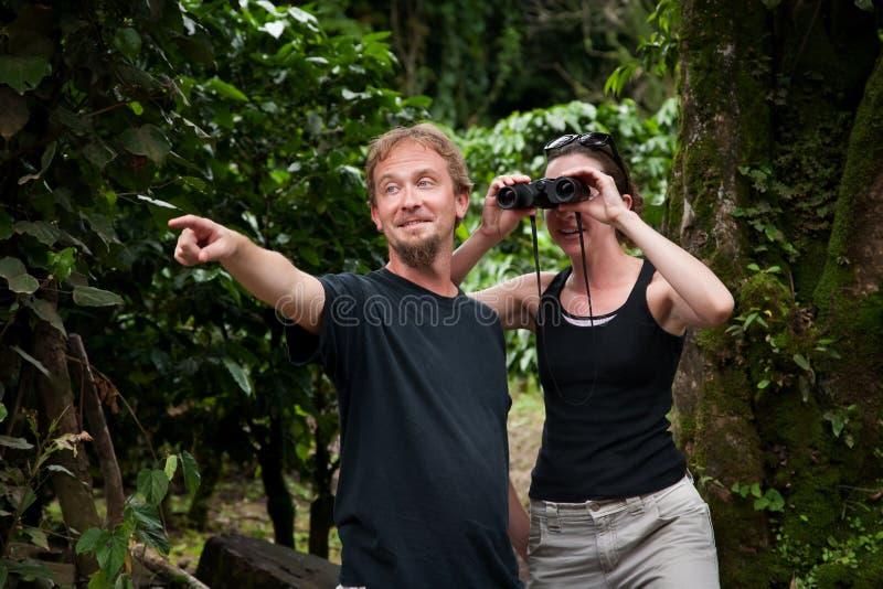 amerikanska centrala turister royaltyfria bilder