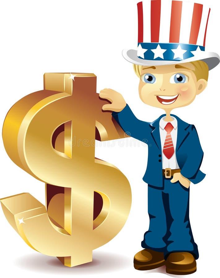 amerikanska dollartecken stock illustrationer