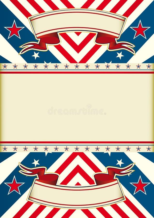 amerikanska drömmenflagga stock illustrationer