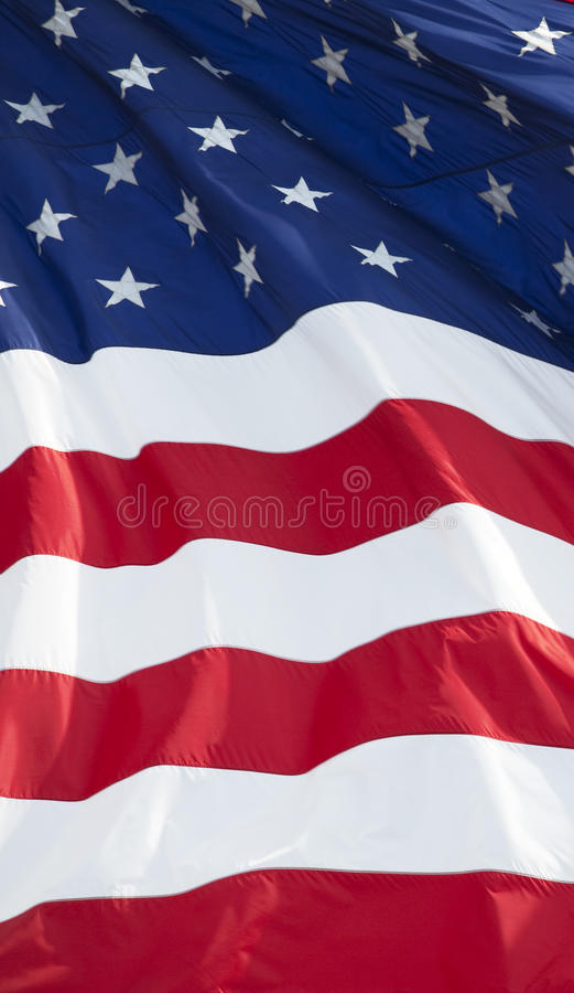amerikanska flaggan 015 royaltyfria bilder