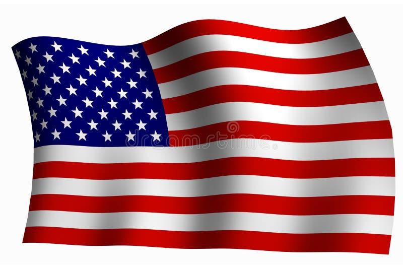 amerikanska flaggan vektor illustrationer