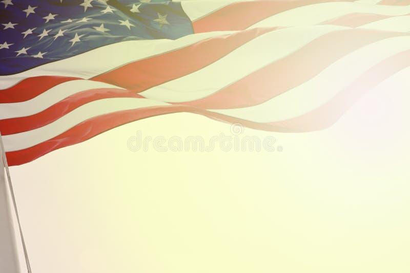amerikanska flaggan fotografering för bildbyråer