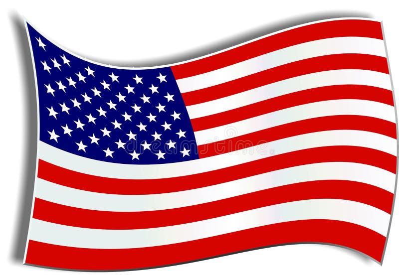 Download Amerikanska flaggan stock illustrationer. Illustration av patriotism - 39859