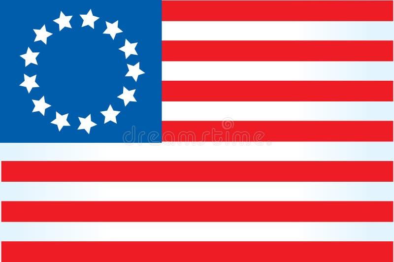 amerikanska flaggan 4 royaltyfri illustrationer