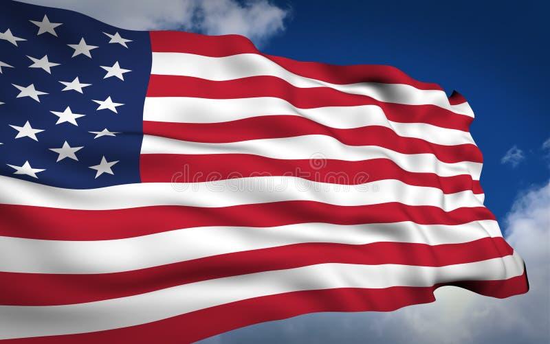 amerikanska flaggan royaltyfri illustrationer