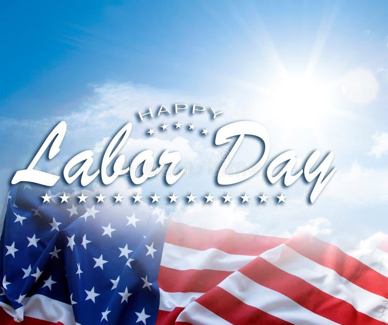 Amerikanska flaggan för arbets- dag royaltyfri illustrationer