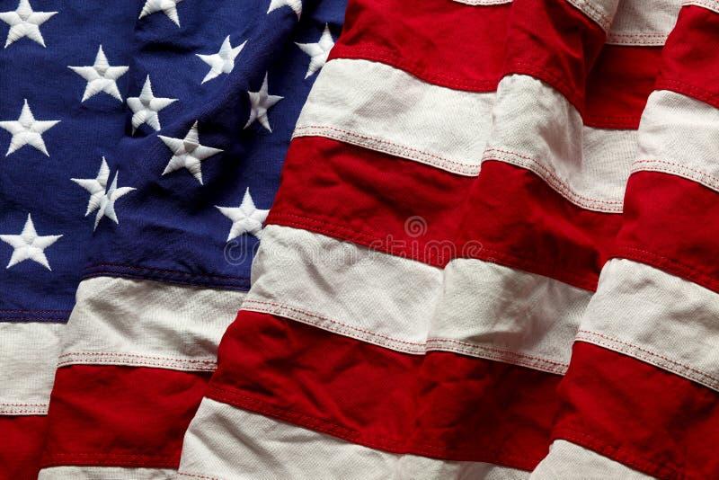Amerikanska flaggan för Memorial Day eller 4th av Juli royaltyfri fotografi