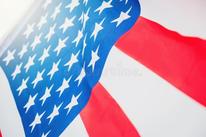 Amerikanska flaggan för minnes- självständighetsdagen 4th Juli fotografering för bildbyråer