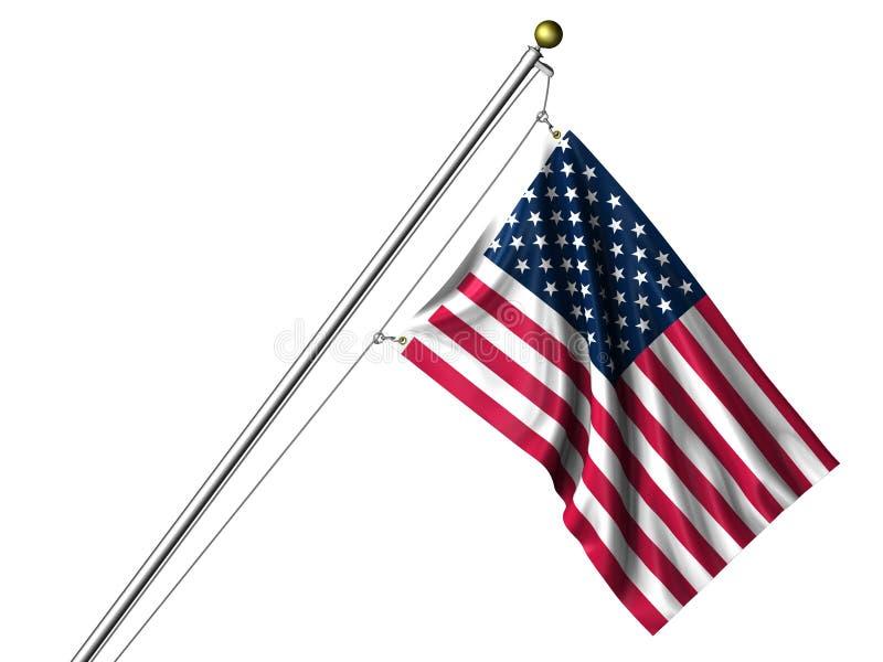 amerikanska flaggan isolerade vektor illustrationer