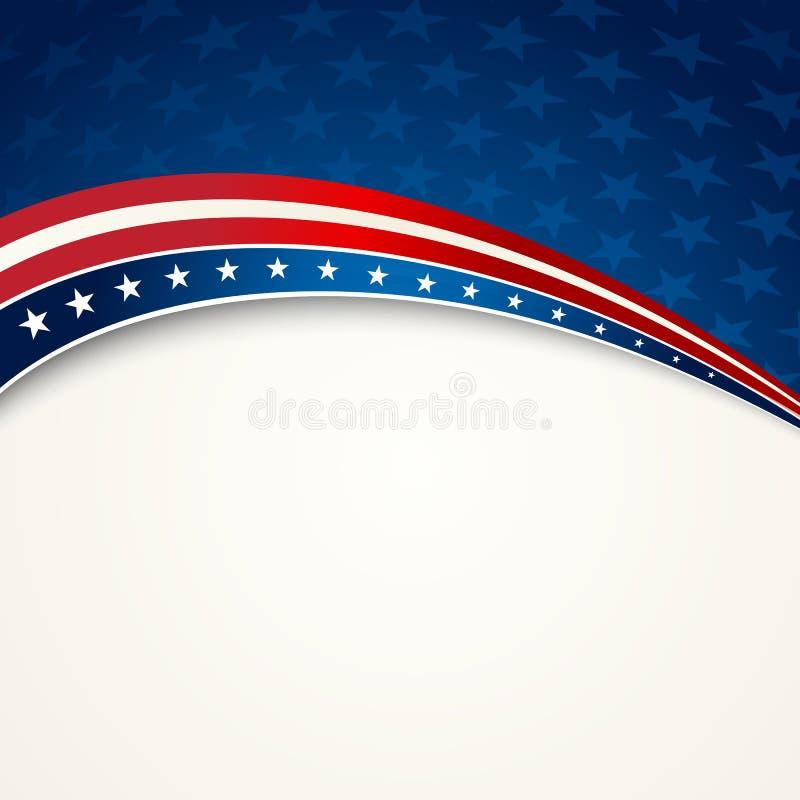 Amerikanska flaggan patriotisk bakgrund för vektor royaltyfri illustrationer