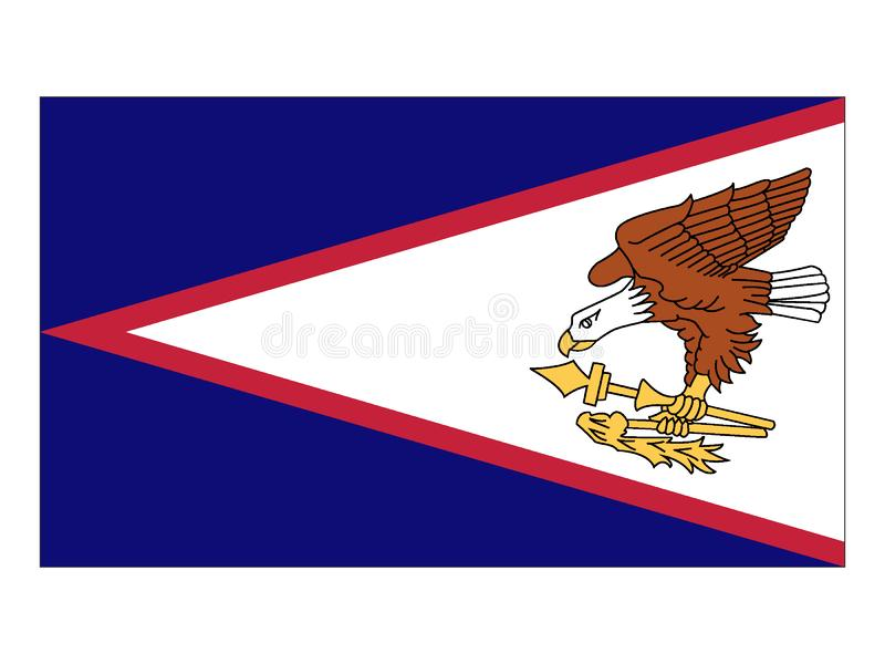 amerikanska flaggan samoa royaltyfri illustrationer