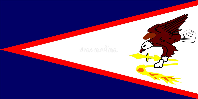 amerikanska flaggan samoa vektor illustrationer
