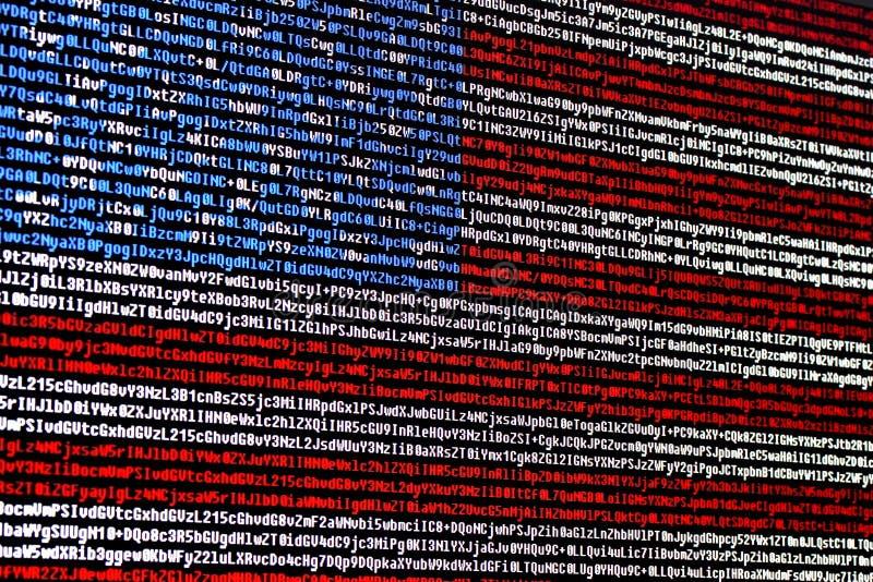 Amerikanska flaggan som består av datorkod royaltyfri foto