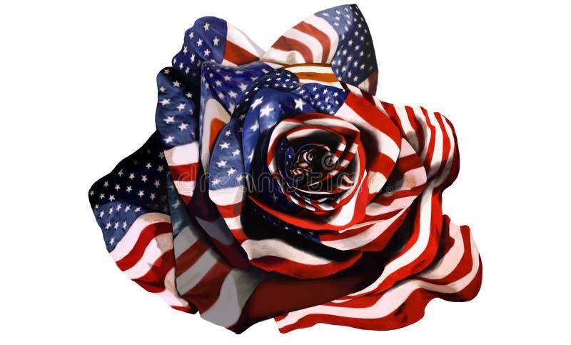 Amerikanska flaggan steg royaltyfria foton