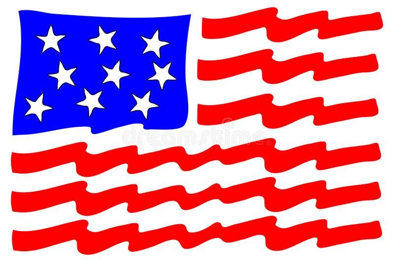 amerikanska flaggan stylized royaltyfri bild