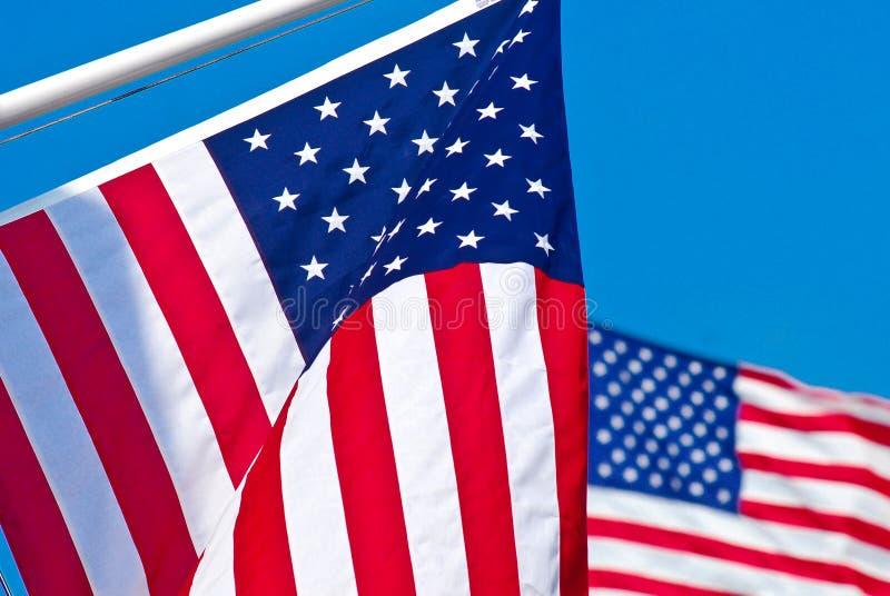 amerikanska flaggan två arkivfoto
