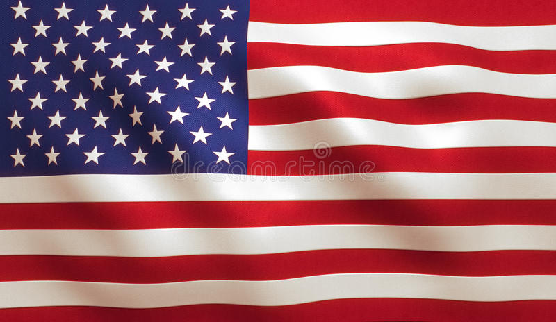 Amerikanska flaggan USA arkivbild