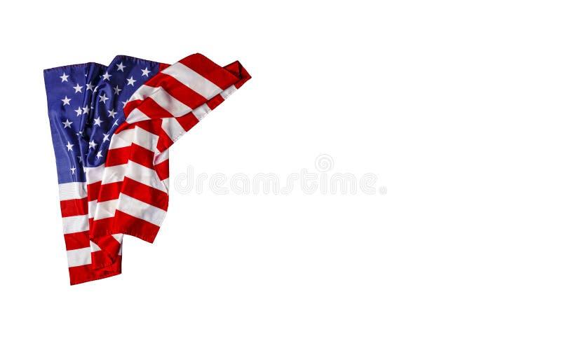 Amerikanska flaggan USA-flagga, självständighetsdagen, Juli 4, Memorial Day, fotografering för bildbyråer