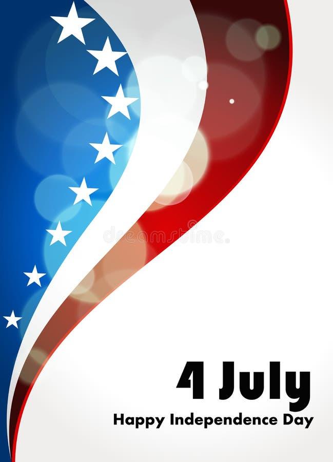 Amerikanska flaggan vektorbakgrund för självständighet  royaltyfri bild