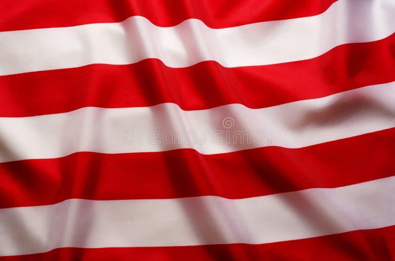 Amerikanska flagganbakgrund med röda och vitband royaltyfria foton