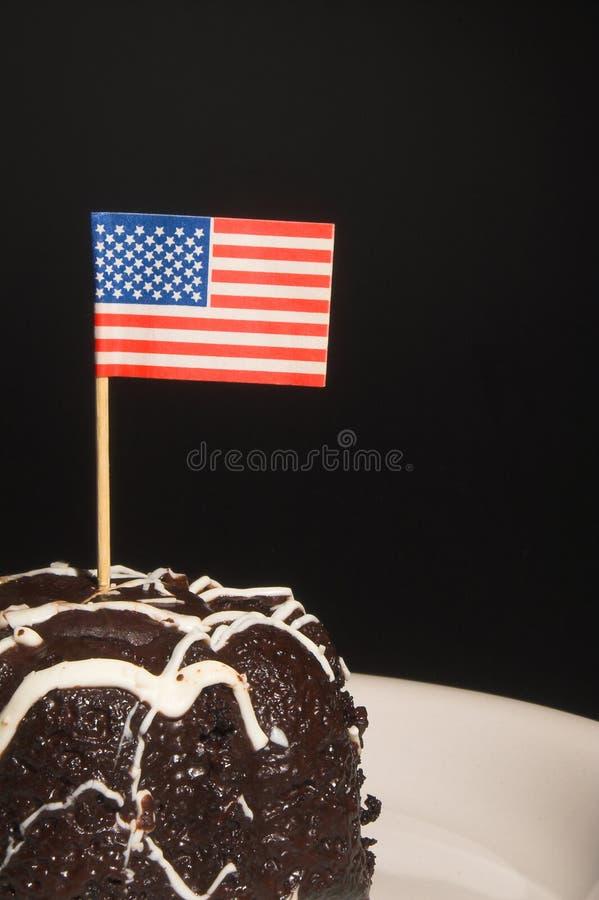 Amerikanska flagganCake fotografering för bildbyråer