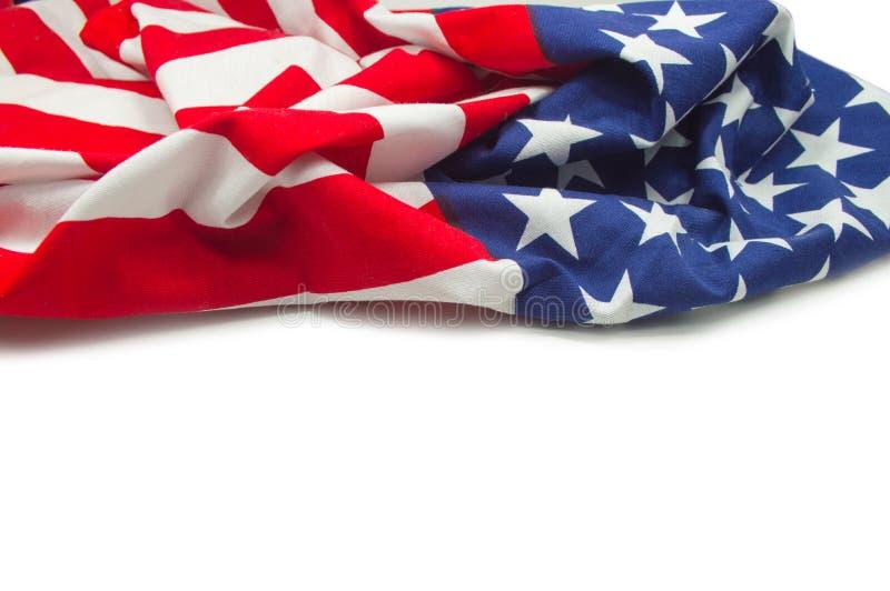 Amerikanska flaggangräns fotografering för bildbyråer