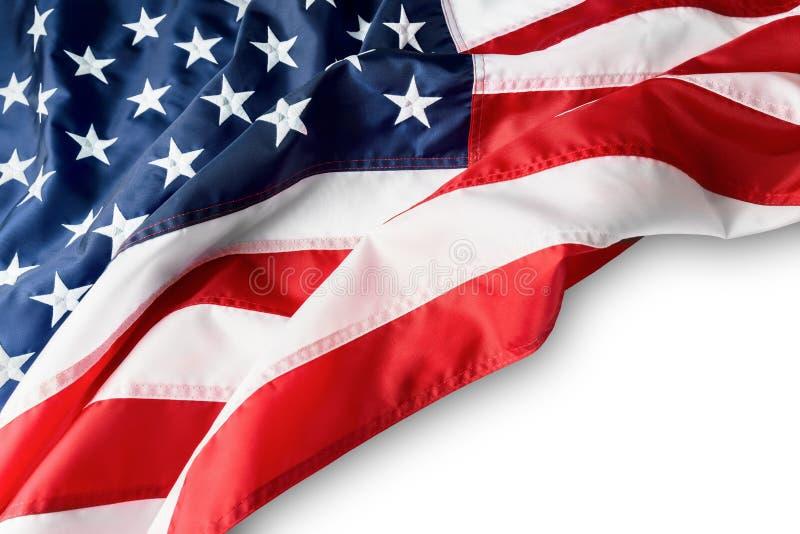 Amerikanska flaggangräns som isoleras på vit bakgrund Utrymme för text royaltyfri foto