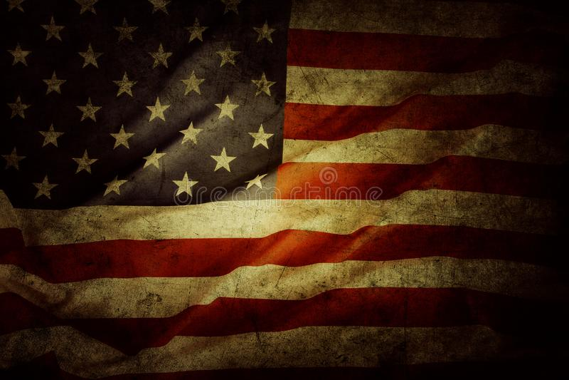 amerikanska flaggangrunge royaltyfria bilder