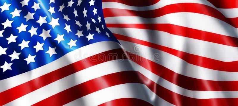 amerikanska flagganillustration royaltyfri illustrationer