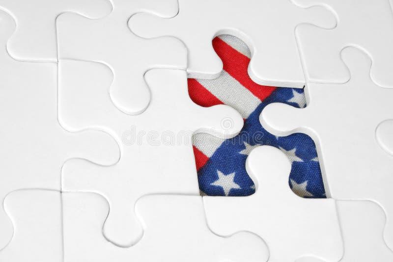 amerikanska flagganjigsaw royaltyfri bild