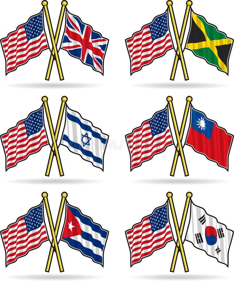 amerikanska flaggankamratskap royaltyfri illustrationer